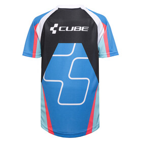 Cube Action Team Rundhalstrikot kurzarm Junior blue'n'white'n'red